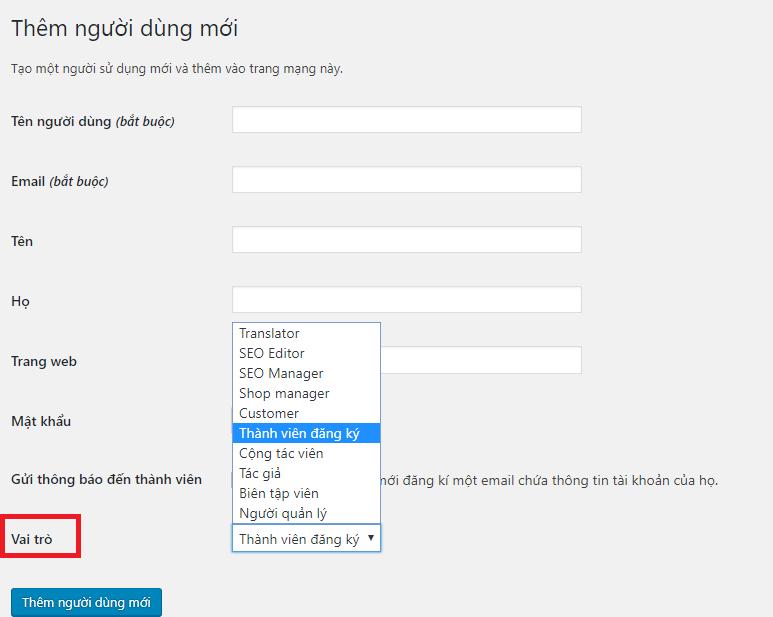 Hướng dẫn tạo và quản lý tài khoản trên website