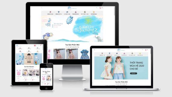 Mẫu website bán hàng thời trang trẻ em bh7