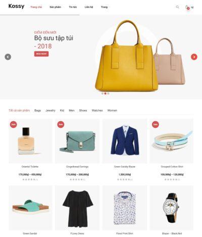 Mẫu thiết kế website bán hàng thời trang - BH10 cực chuyên nghiệp