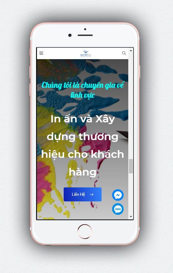Dự án website Bản Việt Ads trên phone