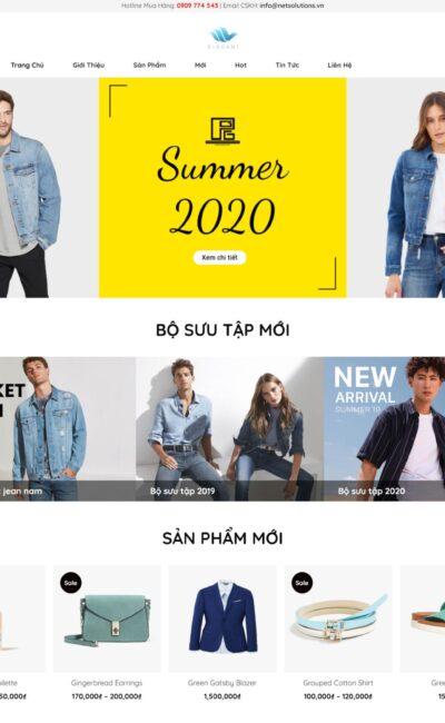 Mẫu Website Bán Hàng Thời Trang Nam Nữ - BH11