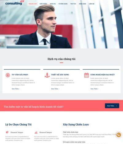 Mẫu Website Giới Thiệu Công Ty và Dịch vụ - CT3