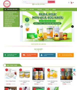 Trang home mẫu website sức khỏe và làn da