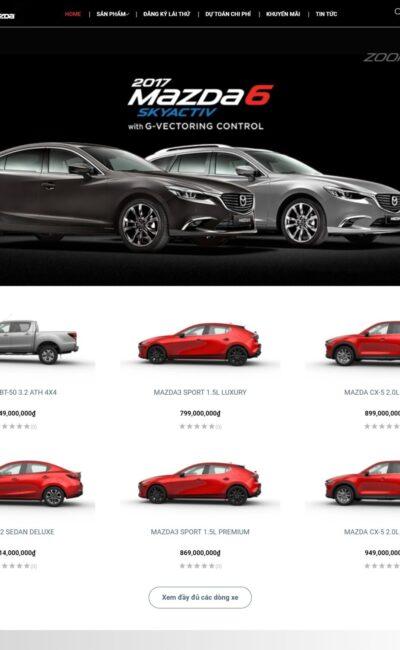 avatar mẫu website bán ô tô mazda - BH13 đẹp, chuyên nghiệp