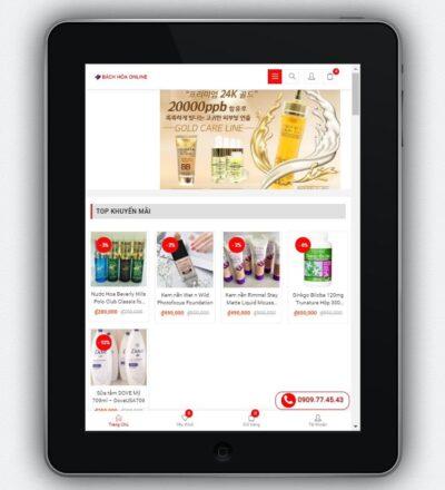 mẫu web bh14 hiển thị tốt trên máy tính bảng