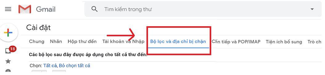 Cách lập danh sách trắng trong gmail