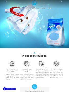 Trang Home mẫu website kinh doanh chất tẩy rửa - ct6
